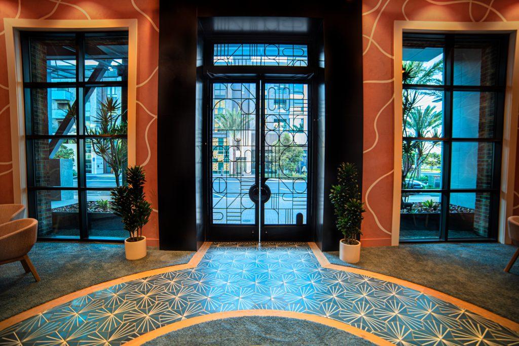 Broadstone Arden Apartments Black Steel Doors